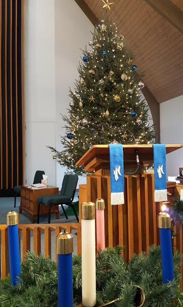 church-christmas-tree